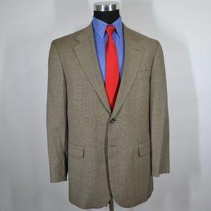 Stafford 42R Sport Coat Blazer Suit Jacket Black T